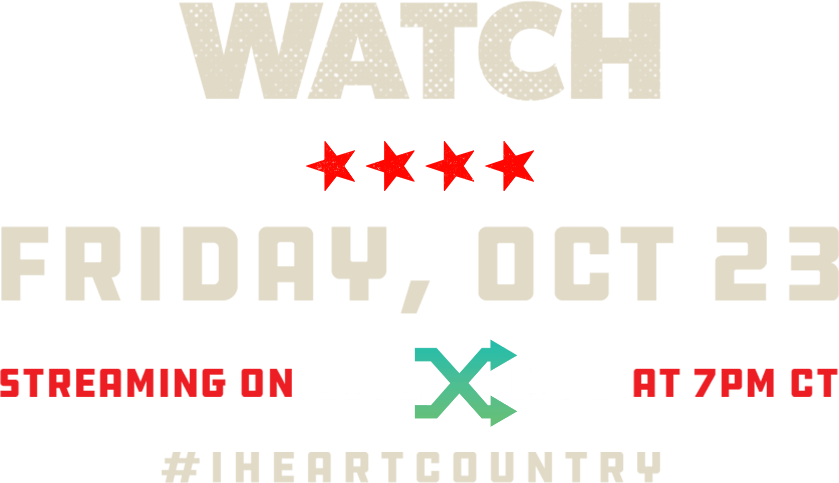 Watch Friday, Oct. 23 Streaming on LiveXLive at 7pm CT